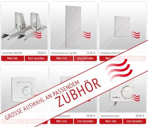 Granotech® Marmor-Infrarotheizung / 800 Watt Carrara Komplettpaket - 7