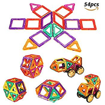 Magnetic Building Blocks 54 PCS Magnet Blocks Set