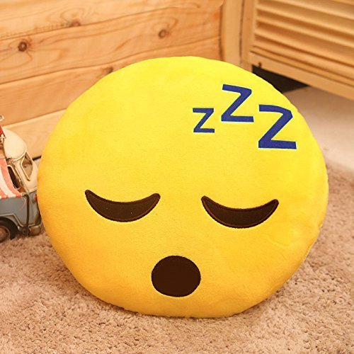 Romote Emoji Kissen weltweit ™ -Sleepy Emoji (High Quality 32 * 32 cm)
