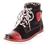 Bergheimer Trachtenschuhe Stiefel rot Leder Stiefelette Damen Schuhe Aflenz, Größe:41, Farbe:rot