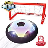 Magic Air Hover Football Toy Indoor Play Game - with 2 Goal Posts, Kids Air Soccer Disk Hover Ball with 2 Portable Goal Post, Best Toy Play Set for Kids