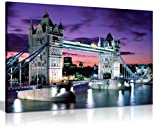 London Tower Bridge Leinwandbild Kunstdruck Bild, A1 76x51 cm (30x20in)
