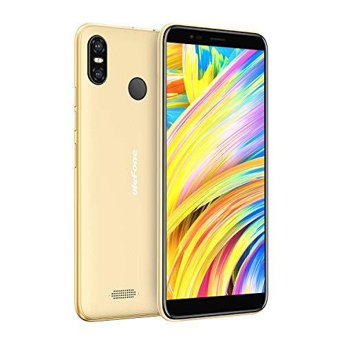 Ulefone S9 Pro, Smartphone Libre 4G, Android 8.1, Portátil, Pantallla Grande 5.5 Pulgadas, 2GB+16GB, Doble SIM, Desbloqueo Facial y Desbloqueo de Huellas Digitales, Batería 3300mAh (Oro)