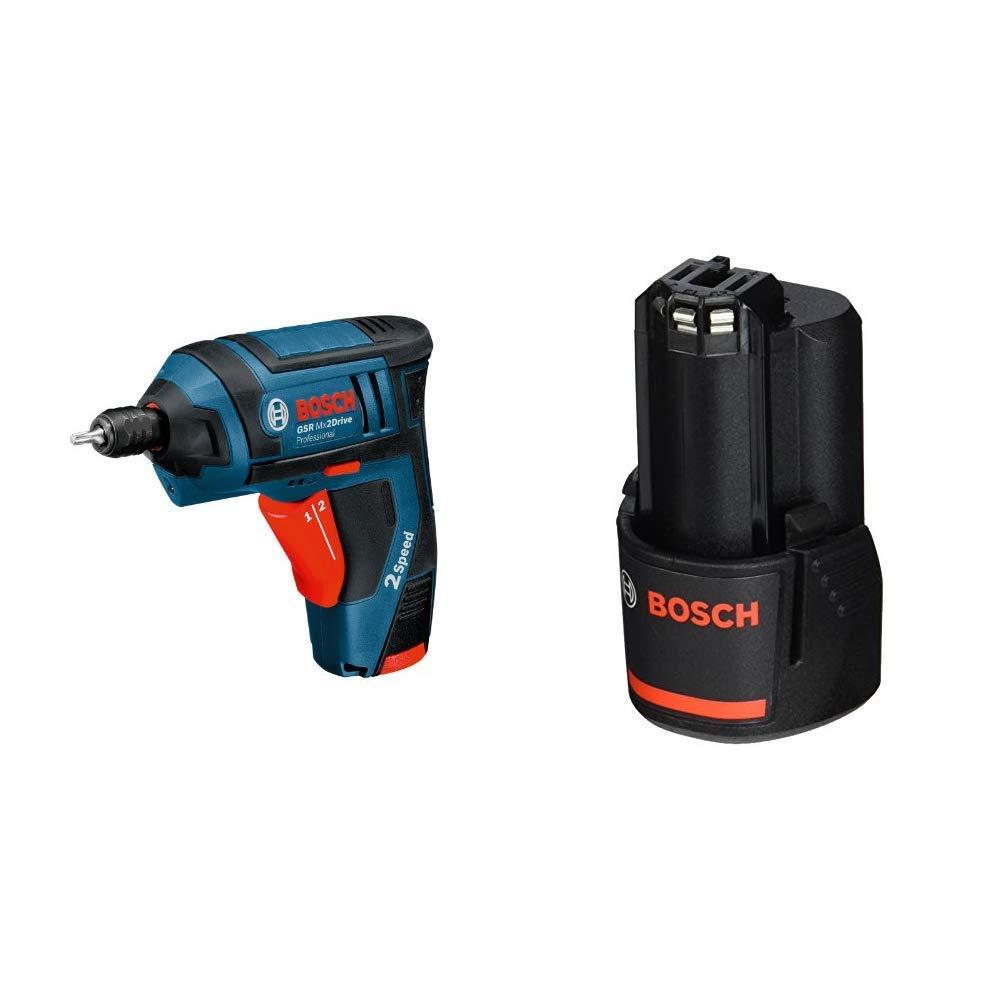 Bosch Professional Akku-Schrauber GSR Mx2Drive (2 Akku, Ladegerät, Kunststoffbox, 3,6 V, 1,3 Ah, max. Drehmoment 10 Nm) + Bosch Professional 43tlg. Schrauber Bit Set (Zubehör für Elektrowerkzeuge)