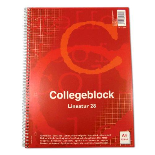 30x Collegeblock A4 Spirablock Kollegblock kariert