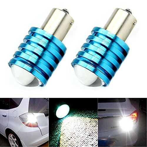 AST Works 2X 1156 BA15S 7W P21W High Power CREE Q5 LED Car Bulb White Reverse Light 12V