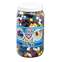 Hama 10.8540 1,400 Maxi Beads in Tub Solid Mix