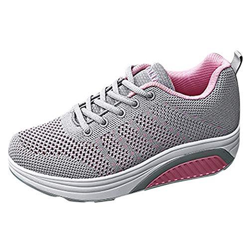 POLPqeD Sneakers Breathable da Donna Maglia Casual Sports Scarpe con La Suola Spessa Scarpe da Fitness All'Aperto