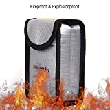Decdeal Fireproof Explosionproof Lipo Battery Safe Bag Portable Heat Resistant Pouch Sack for DJI Phantom 3 Battery Charge & Storage 140 * 90 * 55mm