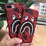 A Bathing Ape (Bape) iPhone 7/8 plus Protective Hard Case Cover Red Camo (Iphone 7/8 plus)