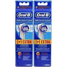 Braun Oral B Precision Clean–Cabezales de recambio para cepillo de dientes, 6unidades)
