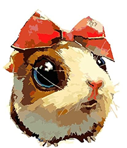 Obella Peinture par numéros Kits issu de la gamme mignon petit hamster 50x 40cm issu de la gamme Peinture par numéros numériques, peinture à l'huile, sans cadre