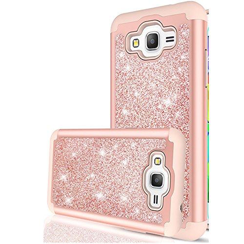 Galaxy Grand Prime Hülle,J2 Prime Glitter Hülle,Spritech - hübsche mädchen frauen [2] 1 pc silikon leder schweren schützende telefon Hülle für Samsung J2 Prime G530