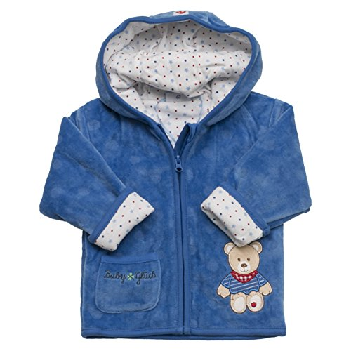 SALT AND PEPPER Baby-Jungen Sweatshirt BG Jacket Nicki Allover, Blau (Classic Blue 449), 56