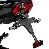 Motorrad Kennzeichenhalter mit Beleuchtung Nummernschild Kawasaki Ninja H2 SX 2018 Puig schwarz