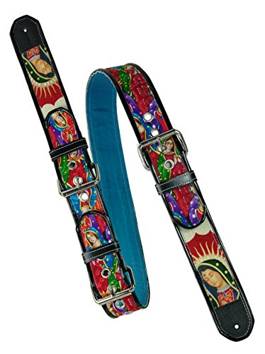jodi-head-rollermary-virgin-mary-buckle-hecha-a-mano-correa-para-guitarra-color-rojo