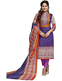 Baalar Women's Cotton Unstitched Dress Material (2013_Multicolor_Free Size By Onkar Trading)