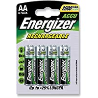 Batteries - Rechargeable - BATTERY NIMH AA 2000MAH PK4 POWER+ - 627916
