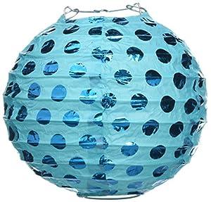 Amscan International-249000-5412cm Caribe azul caliente con sello Paper Lanterns