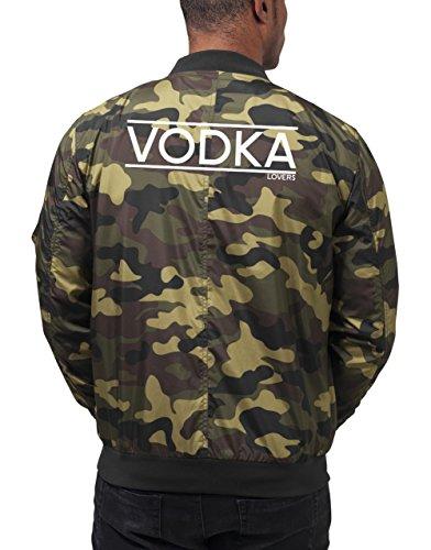 Vodka Lovers Bomberjacke Camouflage Certified Freak-XXL