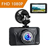 Mibao Dashcam Telecamera per Auto Dash Cam per Auto Camera Car 1080P con 3.0' LCD, 170 Gradi, G-Sensor, WDR, 6 Glens, Rilevazione di Movimento, Registrazione in Loop,WDR