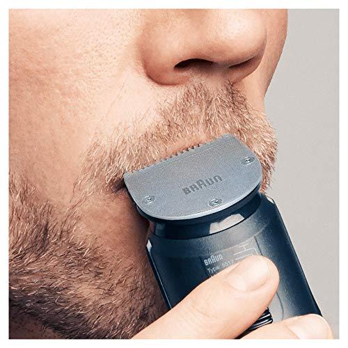 Braun MGK7020 10 En 1 -  Recortadora Barba y Cortapelos Todo en Uno con Afeitadora Cuerpo,  Nariz y Orejas,  Afeitadora Mini,  Detalles,  Negro/Plata