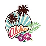 autocollant sticker Aloha adhesif - 17 cm