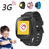 Oaxis 3G Kidswatch Kinder GPS Telefon-Uhr SOS Smartwatch , Tracker / Locator & Watch Phone (Schwarz)