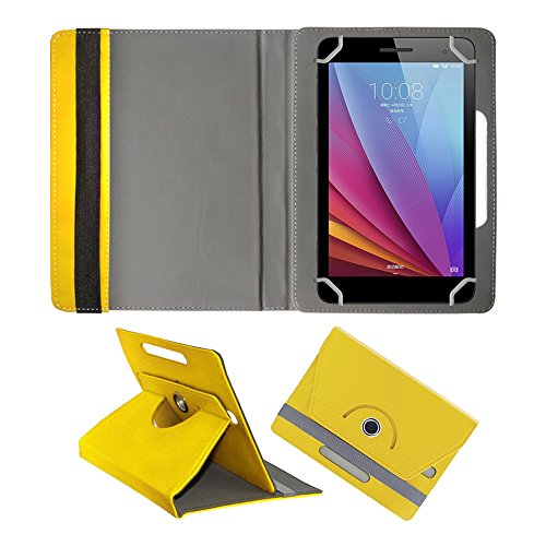 Fastway Rotating 360° Leather Flip Case For Huawei Honor T1 7.0 Yellow  available at amazon for Rs.299