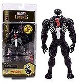 FHMHJH Giocattolo Modello Venom, Personaggio Comico Anime Marvel Spider-Man Eroe Ritorno al Veleno Gwen 7 Pollici può Fare Bambola Modello