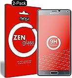 nandu I ZenGlass [2 Stück] Flexible Glas-Folie für Samsung Galaxy Note 4 Panzerfolie I Display-Schutzfolie 9H I (Kleiner Als Das Gewölbte Display)