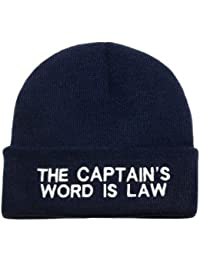 Nauticalia Captain's Word is Law Wool knitted beanie hat