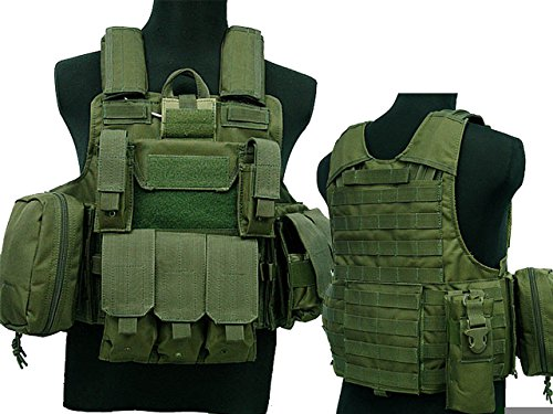 Taktische Militär Airsoft Paintball Camo Level 5 Molle Kampfweste OD