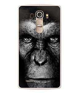 PrintVisa Designer Back Case Cover for LG G4 :: LG G4 Dual LTE :: LG G4 H818P H818N :: LG G4 H815 H815TR H815T H815P H812 H810 H811 LS991 VS986 US991 (Monkey In Black Design)