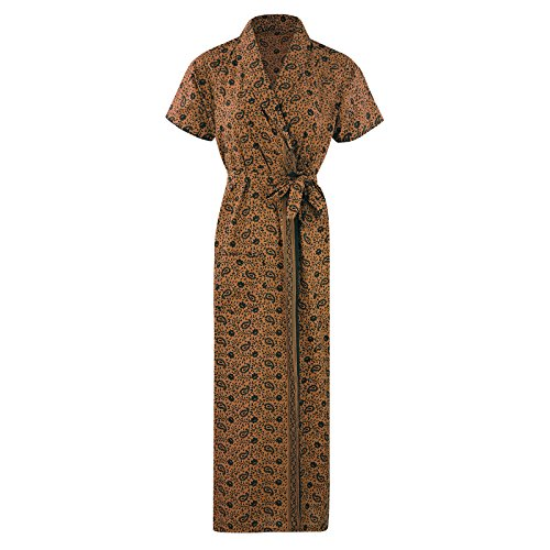 The Orange Tags - Vestaglia -  donna Coffee Flower Print