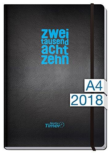 Chäff Wochen-Notizkalender Classic Kalender 2018 A4 Maxi - Extra-Groß Jan-Dez 2018 - Notiz-Timer - Terminplaner - Wochenkalender - Organizer - Terminkalender mit Wochenplaner - Soft-Cover