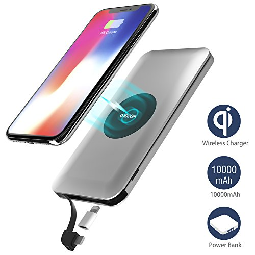 Wofalo 10000mAh - Qi Wireless + Lightning Adapter