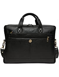 Hammonds Flycatcher Genuine Leather Black Leather 15.6 Inch 15 Inch 14 Inch 13 Inch Laptop Bag Cum Office Messenger...