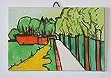 Le mure di Lucca-Dipinto a mano su cartoncino telato,dimensioni 15x10x0,2cm,pronto per essere attaccato alla parete.Made in Italy,toscana lucca.Creato da Davide Pacini.