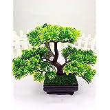 Limón & T Árbol de Cedro japonés Bonsai Artificial moderna decoración para el hogar (verde)