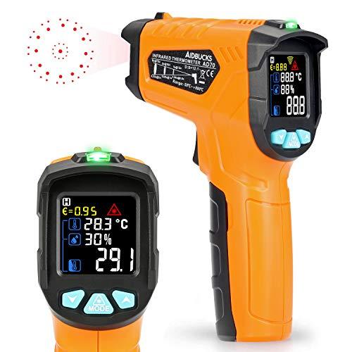 Termometro a infrarossi AD70 Termometro Digitale Laser Pistola Termometro Professionale -50°C a 800°C con sonda per cucina dolci forno ambiente interno industria e scienza LCD display
