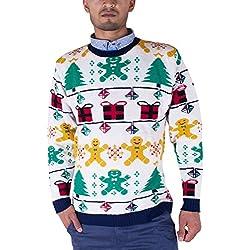 70's Suéter Retro Navidad Prendas de punto Jerséis Cárdigan para Hombre Unisexo