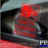 4x Kamera/recording-red clear-window stickers-vehicle Dash Cam signs-cctv Warnung Sicherheit, für Auto, Van, LKW, Taxi, Mini, CAB, Bus, Coach, die Wirkung, zum Befestigen, 28x 60mm mit Schutz