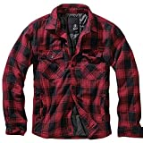 Brandit Lumberjacket Übergangsjacke schwarz/rot S
