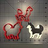 Zoomy Far: Cute Animal Husky Guine Ausstecher Maß 3D Printed Hund Boston Doge Keks Set Werkzeuge Kuchendekoration Werkzeuge: JB-Husky-4inch N4213