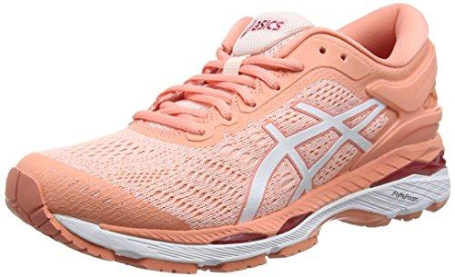 ASICS Women's Gel-Kayano 24 Seashell White/Begonia Pink Running Shoes - 4 UK/India (37 EU)(6 US)(T799N.1701)