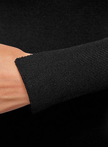 oodji Collection Damen Strickkleid Basic Schwarz (2900N)