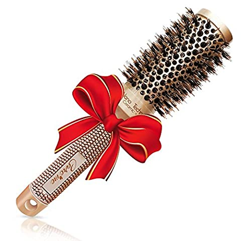 Best Blow Dry Round Hair Brush with Natural Boar Bristles