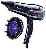 BaByliss Expert - Secador de pelo con difusor, 2300 W, función turbo, aire frío, 25% de ahorro de energía, 6 velocidades/temperaturas, color morado