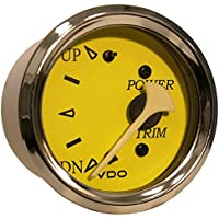 VDO Allentare Yellow/Blue Trim Gauge - For Use w/Mercury/Volvo/Yamaha 2001+ Engines - 12V